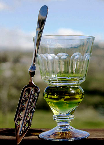 Absinthe Glass and Spoon